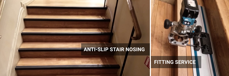 Antisplip Stair Nosings Installation For Commercial Use St Pauls Cray